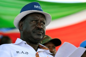 Kenyan opposition leader Raila Odinga, the presidential candidate of the National Super Alliance (NASA) coalition attends a rally at the Jacaranda grounds in Nairobi, Kenya September 17, 2017. Credit: Reuters