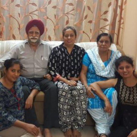 Kuljeet's family, she is on the bottom left. Credit: Kuljeet Kaur