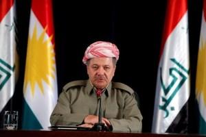 Iraqi Kurdish president Masoud Barzani speaks during a news conference in Erbil, Iraq September 24, 2017. Credit: Reuters
