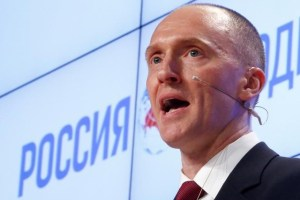 FILE PHOTO: One-time advisor of US president-elect Donald Trump Carter Page addresses the audience during a presentation in Moscow, Russia, December 12, 2016. Credit: Reuters/Sergei Karpukhin/File Photo