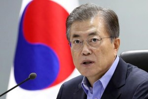 South Korean President Moon Jae-in attends the National Security Council (NSC) meeting in Seoul, South Korea on September 3, 2017. Credit: Reuters/Blue House/Yonhap/Files