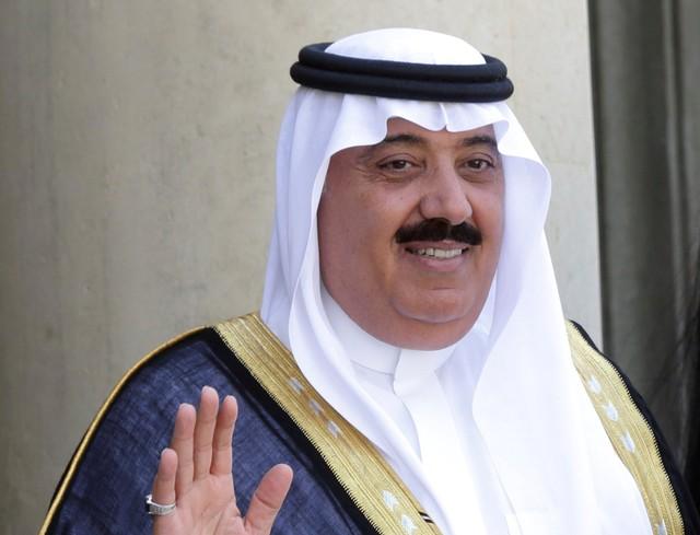 FILE PHOTO - Saudi Arabian Prince Miteb bin Abdullah at the Elysee Palace in Paris, France, June 18, 2014. Credit: Reuters/Philippe Wojazer/File Photo