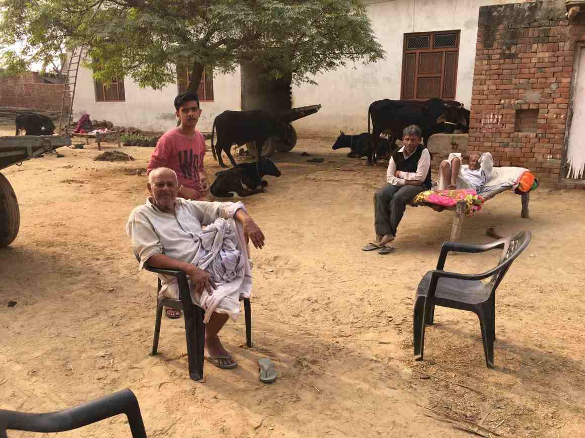 A group of Thakurs in the village. Credit: Kabir Agarwal