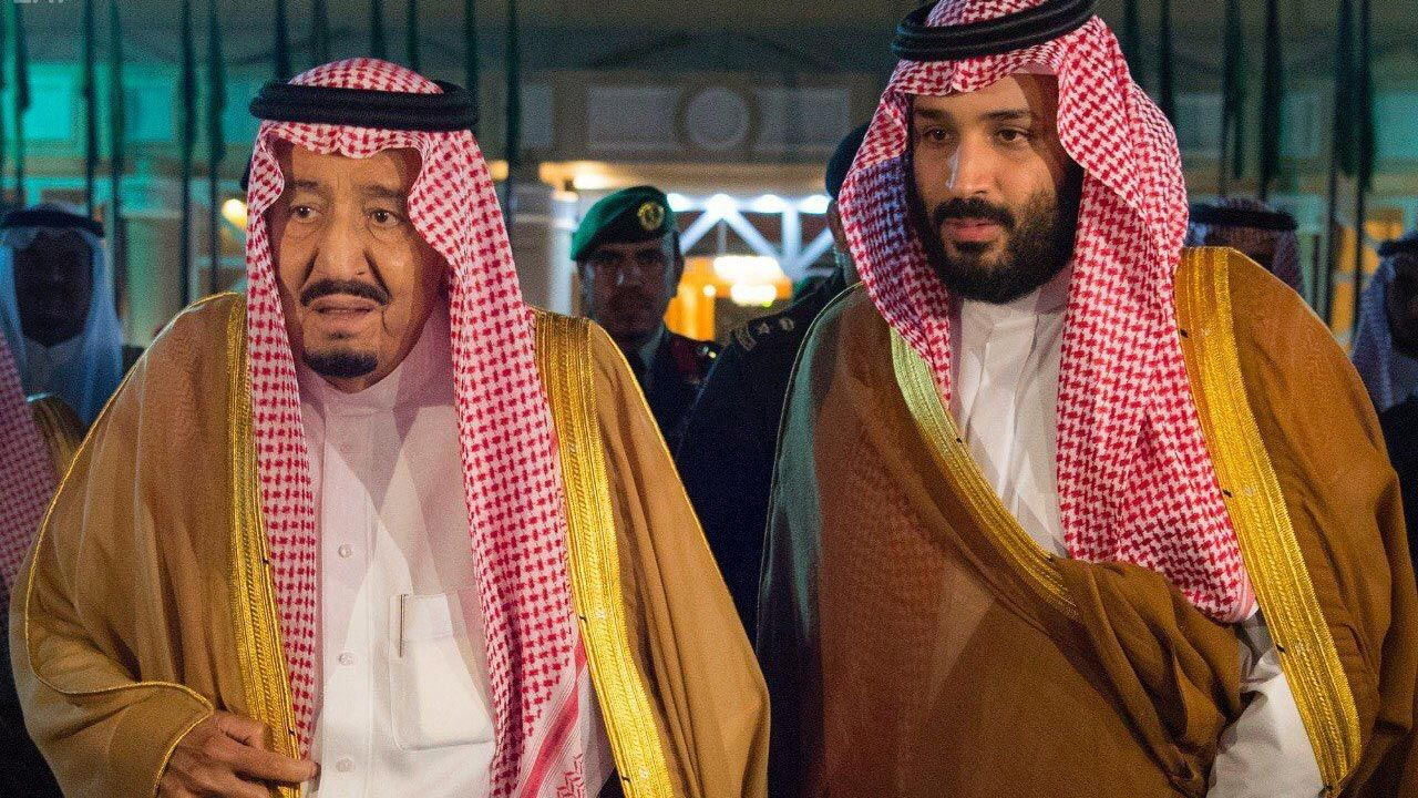 Saudi Arabia's King Salman and his son Crown Prince Mohammed bin Salman. Credit Reuters