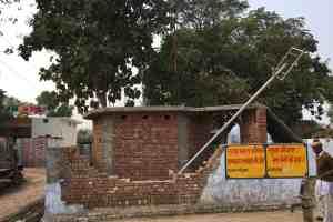 The broken wall of the Ravidas temple. Credit: Kabir Agarwal