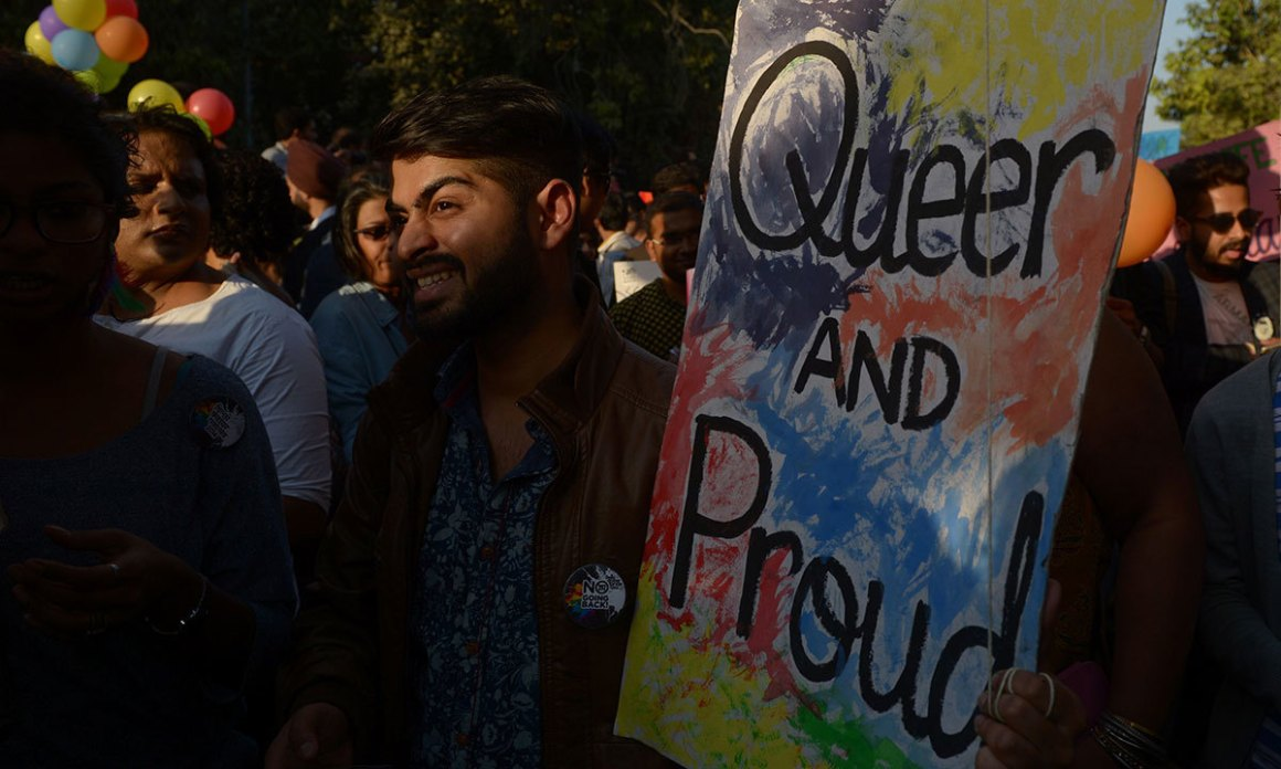 Participants of pride parade in Delhi. Credit: Reuters