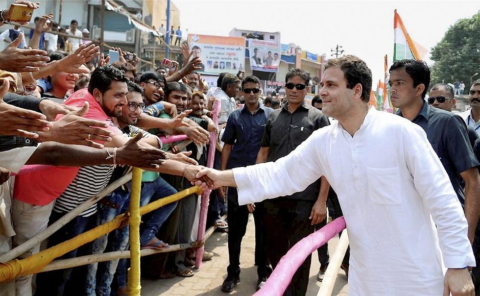 Congress vice-president Rahul Gandhi in poll-bound Gujarat