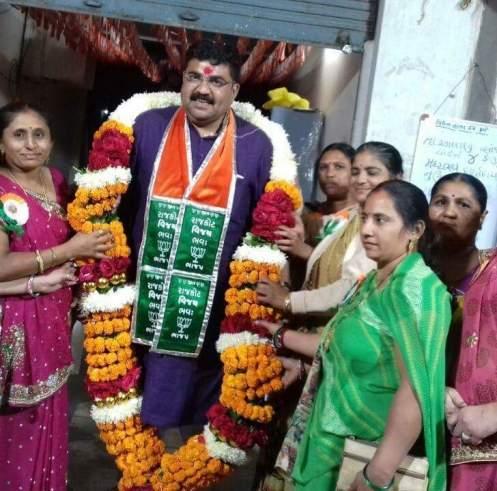 BJP candidate from Rajkot East Arvind Raiyani. Credit: Damayantee Dhar