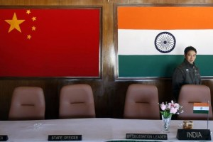 A man walks inside a conference room used for meetings between military commanders of China and India, at the Indian side of the Indo-China border at Bumla, in Arunachal Pradesh, November 11, 2009. Credit: Reuters/Adnan Abidi