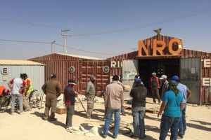 Work in the Za'atari Refugee Camp. Author provided