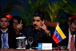 Venezuela's President Nicolas Maduro speaks at the IV Gas Exporting Countries Forum in Santa Cruz, Bolivia, November 24, 2017. Credit: Reuters/David Mercado