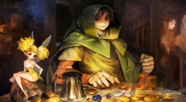 Dragon's Crown - Merchant (?) with a fairy
