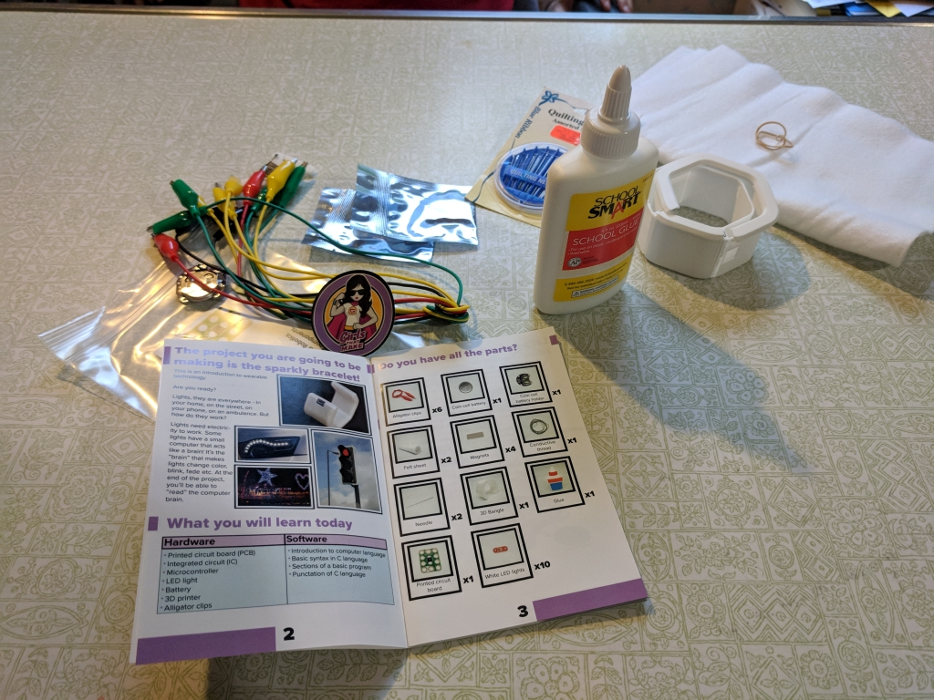Girls That Make Wearable Technology Projects Create Something Great Printed Circuit Board Box Contents