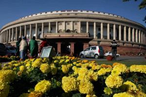 New Delhi : A view of Parliament House in New Delhi on Wednesday. PTI Photo by Atul Yadav (PTI12_19_2012_000056A)