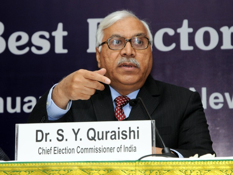 "The Chief Election Commissioner, Dr. S.Y Quraishi addressing a press conference on North Zone Symposium on ""Sharing Best Electoral Practices"" in New Delhi on January 7, 2011."
