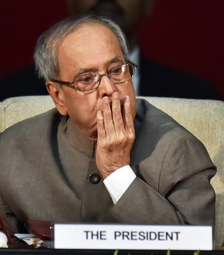 New Delhi: President Pranab Mukherjee during the15th Malti Gyan Peeth Puraskar at Rashtrapati Bhavan in New Delhi on Monday. PTI Photo by Vijay Verma (PTI5_29_2017_000174A)