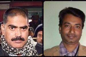 बिहार के पूर्व सांसद शहाबुद्दीन और पत्रकार राजदेव रंजन. (फोटो: पीटीआई)