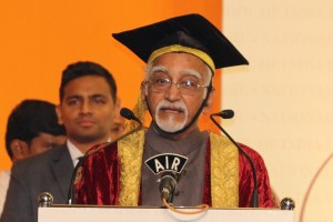 The Vice President, Shri M. Hamid Ansari delivering the 25th Annual Convocation Address of National Law School of India University (NLSIU), in Bengaluru on August 06, 2017.