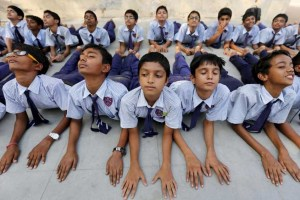 students Yoga Reuters