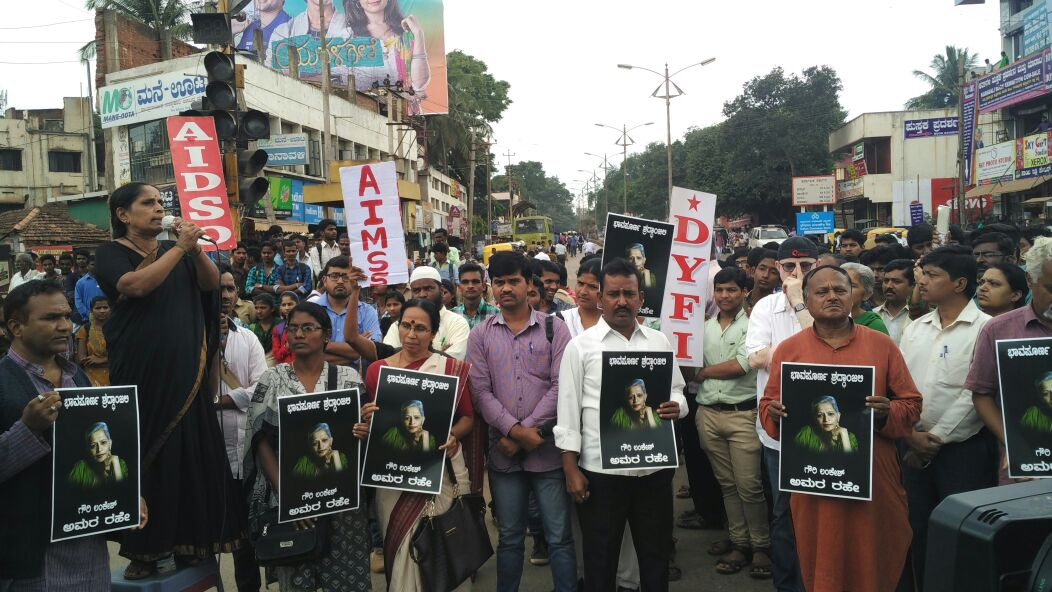 Protest for Gauri Lankesh