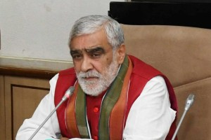 The Minister of State for Health & Family Welfare, Shri Ashwini Kumar Choubey briefing the media on the status of AIIMS under the Pradhan Mantri Swasthya Suraksha Yojana (PMSSY), in New Delhi on October 11, 2017.