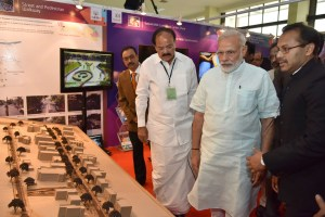 The Prime Minister, Shri Narendra Modi visiting the Smart Cities Exhibition, in Pune on June 25, 2016. 	The Union Minister for Urban Development, Housing and Urban Poverty Alleviation and Parliamentary Affairs, Shri M. Venkaiah Naidu is also seen.