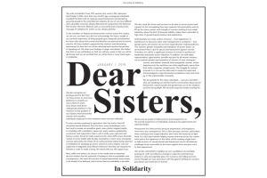 हॉलीवुड में कार्यस्थल पर यौन प्रताड़ना के ख़िलाफ़ शुरू हुए टाइम्स अप अभियान के बाद महिलाओं के लिए जारी पत्र. (फोटो साभार: www.timesupnow.com)