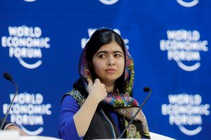 Davos : Nobel laureate Malala Yousafzai attends the annual meeting of the World Economic Forum in Davos, Switzerland, Thursday, Jan. 25, 2018. AP/PTI(AP1_25_2018_000165B)