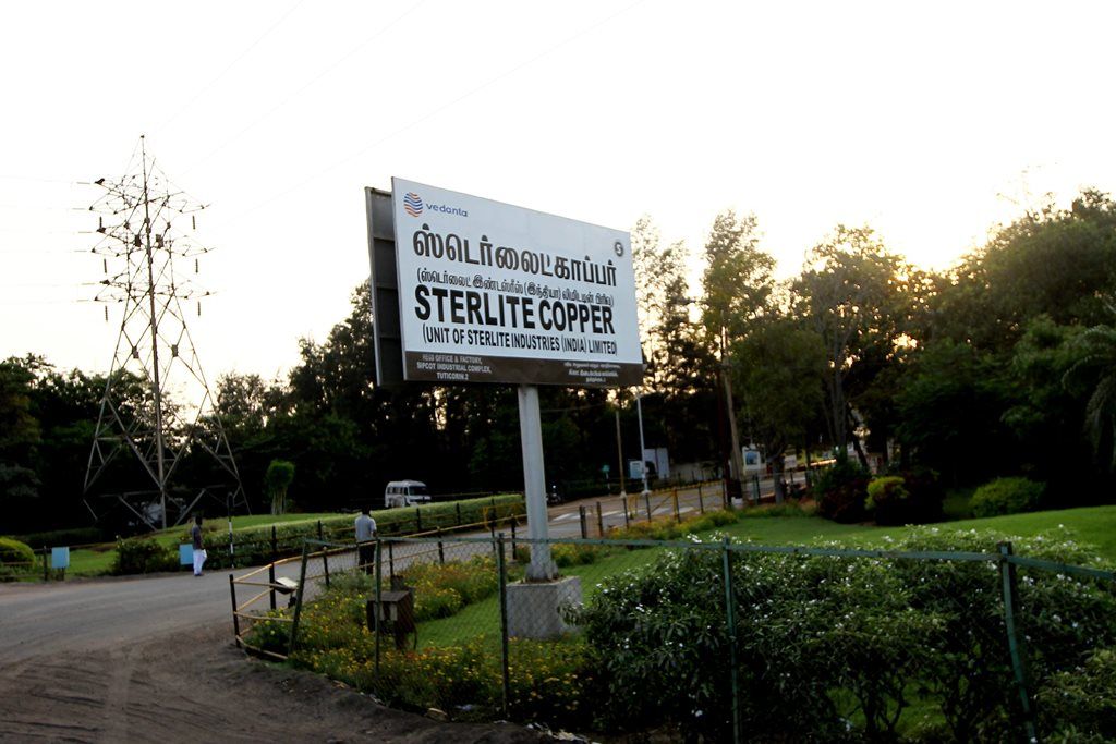 Tuticorin: **FILE PHOTO** Vedanta's Sterlite Copper unit ,in Tuticorin on Thursday. PTI Photo(PTI5_24_2018_000232B)