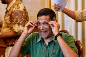 New Delhi: Chief Economic Advisor Arvind Subramanian addresses a press conference, in New Delhi, on Wednesday, June 20, 2018. (PTI Photo/Ravi Choudhary)(PTI6_20_2018_000134B)