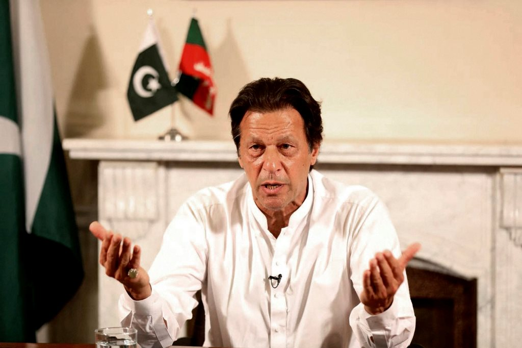"Islamabad : In this photo provided by the office of Pakistan Tehreek-e-Insaf party, Pakistani politician Imran Khan, chief of Pakistan Tehreek-e-Insaf party, delivers his address in Islamabad, Pakistan, Thursday, July 26, 2018. Khan declared victory Thursday for his party in the country's general elections, promising a ""new"" Pakistan following a vote that was marred by allegations of fraud and militant violence. AP/PTI(AP7_26_2018_000266B)"
