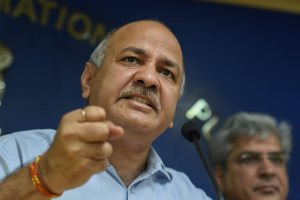 New Delhi: Delhi Deputy Chief Minister Manish Sisodia addresses a press conference, in New Delhi on Wednesday, July11, 2018. (PTI Photo/Atul Yadav) (PTI7_11_2018_000126B)