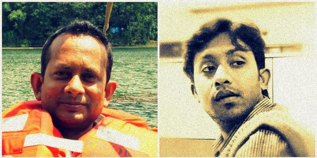 पिछले साल दो अलग-अलग मामलों में त्रिपुरा के पत्रकार सुदीप दत्ता (बाएं)और शांतनु भौमिक (दाएं) की हत्या कर दी गई थी. (फोटो साभार: फेसबुक)