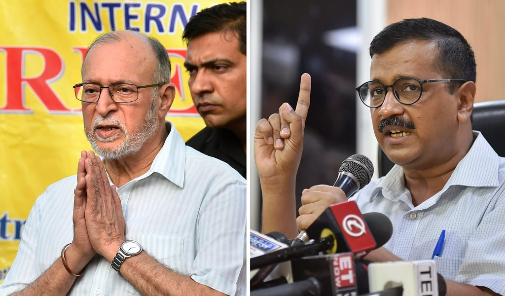 Combo photo of (L-R) Lieutenant Governor of Delhi, Anil Baijal, and Delhi Chief Minister Arvind Kejriwal. Supreme Court today held that Lieutenant Governor Anil Baijal does not have independent decision-making powers, and is bound to act on the aid and advice of the Council of Ministers