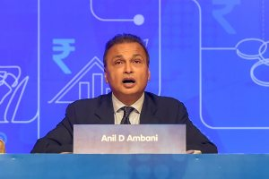 Mumbai: Anil Ambani, Chairman, Reliance Group, addresses during the annual general meeting of Anil Dhirubhai Ambani Group (ADAG), in Mumbai, Tuesday, Sept 18, 2018. (PTI Photo/Mitesh Bhuvad)(PTI9_18_2018_000027B)