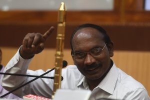 Sriharikota: Indian Space Research Organisation (ISRO) Chairman K Sivan addressing press conference after successfully launch of PSLV-C42, carrying two foreign satellites, NovaSAR and S1-4, lifts off from first launch pad of Satish Dhawan Space Center in Sriharikota, on Sunday, Sept. 16, 2018. (PTI Photo/R Senthil Kumar)(PTI9_16_2018_000167B)