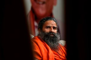 New Delhi: Baba Ramdev during Bharatatma Ashokji Singhal Vedik Puraskar 2018 award function, in New Delhi, Tuesday, Sept. 25, 2018. (PTI Photo/Ravi Choudhary) (PTI9_25_2018_000186B)