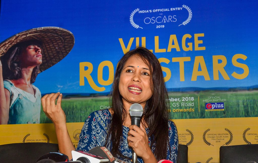Guwahati: Director Rima Das addresses a press conference after her film 'Village Rockstars' was chosen to represent India in the 'Best Foreign Language' category at the 91st Academy Awards next year, in Guwahati, Thursday, Sept 27, 2018. (PTI Photo) (PTI9_27_2018_000104B)