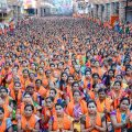 Pune: Thousands of women pray at Dagusheth Ganapati on the occasion of Ganapati Atharvashirsa in Pune, Friday, Sep 14, 2018. (PTI Photo) (PTI9_14_2018_000047B)