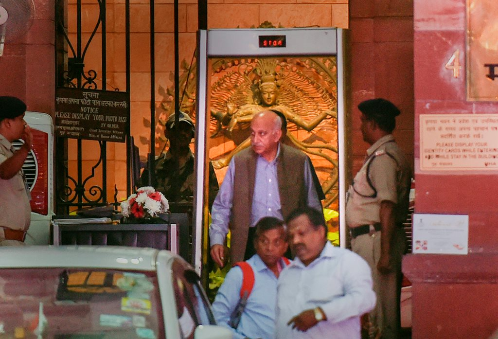 New Delhi: Minister of State for External Affairs MJ Akbar coming out of the MEA at South Block, in New Delhi, Monday, Oct 15, 2018. Akbar has filed a private criminal defamation complaint against journalist Priya Ramani who recently levelled charges of sexual misconduct against him as the #MeToo campaign raged in India. (PTI Photo/Kamal Singh) (PTI10_15_2018_000135B)