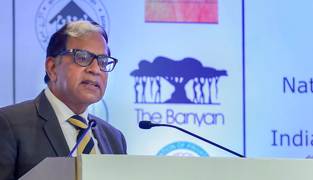 New Delhi: Supreme Court of India, Justice A K Sikri addresses the National Seminar for Homeless & Other Unreached Persons with Mental Illnesses (PMIs), in New Delhi, Saturday, Jan. 5, 2019. (PTI Photo/Atul Yadav)(PTI1_5_2019_000021B)