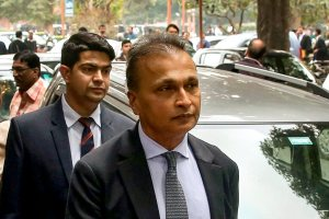 New Delhi: Reliance Communication Ltd (RCom) Chairman Anil Ambani leaves after appearing at the Supreme Court in connection with a contempt petition filed by Ericsson India against him over non-payment of dues, in New Delhi, Tuesday, Feb. 12, 2019. (PTI Photo/ Shahbaz Khan)(PTI2_12_2019_000091B)