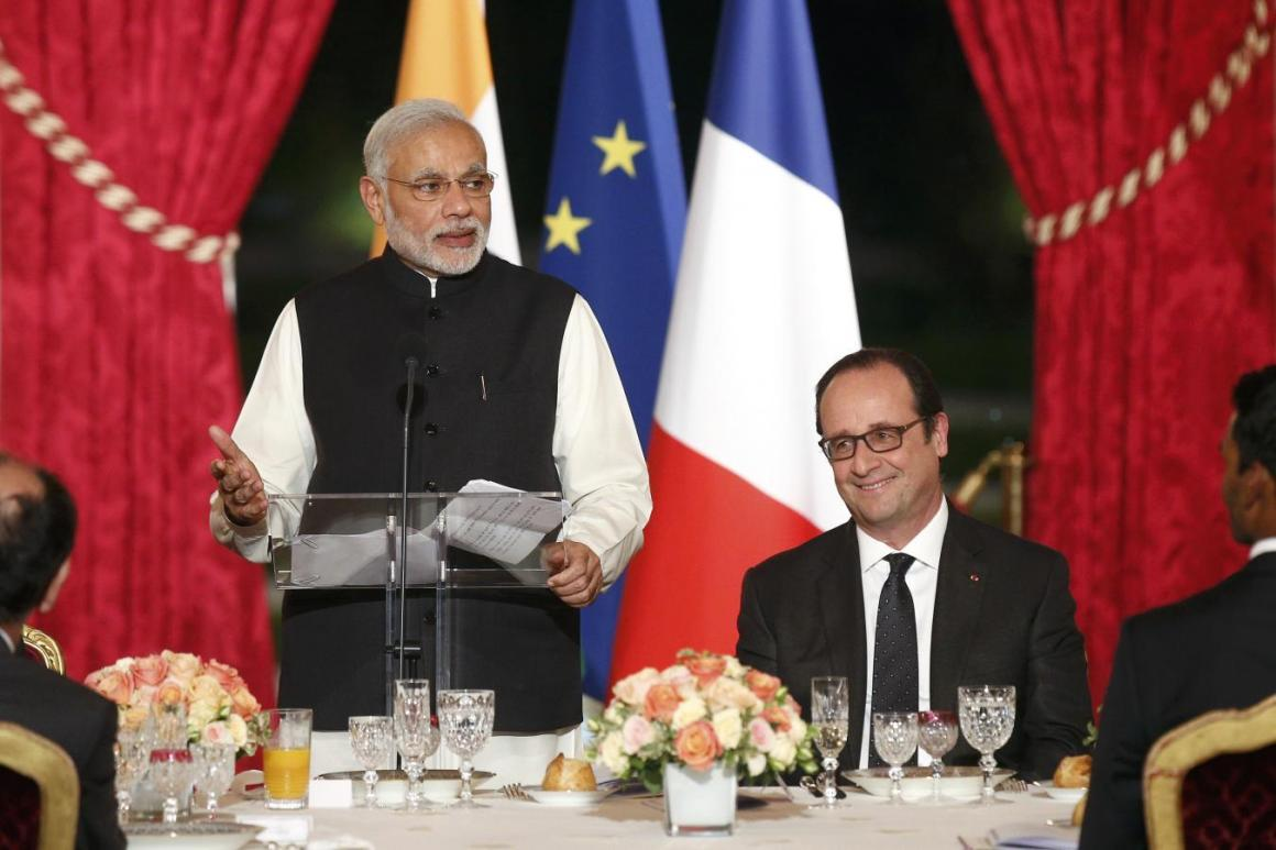 Narendra Modi Hollande Reuters
