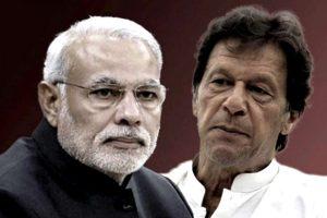 भारतीय प्रधानमंत्री नरेंद्र मोदी और पाकिस्तान के प्रधानमंत्री इमरान खान (इलस्ट्रेशन: द वायर)