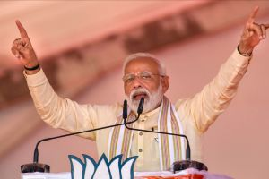 PM Modi addressing rally at Nashik district of Maharashtra. (Photo: PTI)