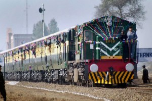 New Delhi: In this Jan 15, 2004, file photo, is seen Samjhauta Express train coming from Lahore, crossing Indo-Pakistan border after a gap of two years, on its way to Attari Station. Pakistan stopped Samjhauta Express on their side at Wagah border on Thursday, Aug 08, 2019, citing security concerns. (PTI Photo)(PTI8_8_2019_000093B)