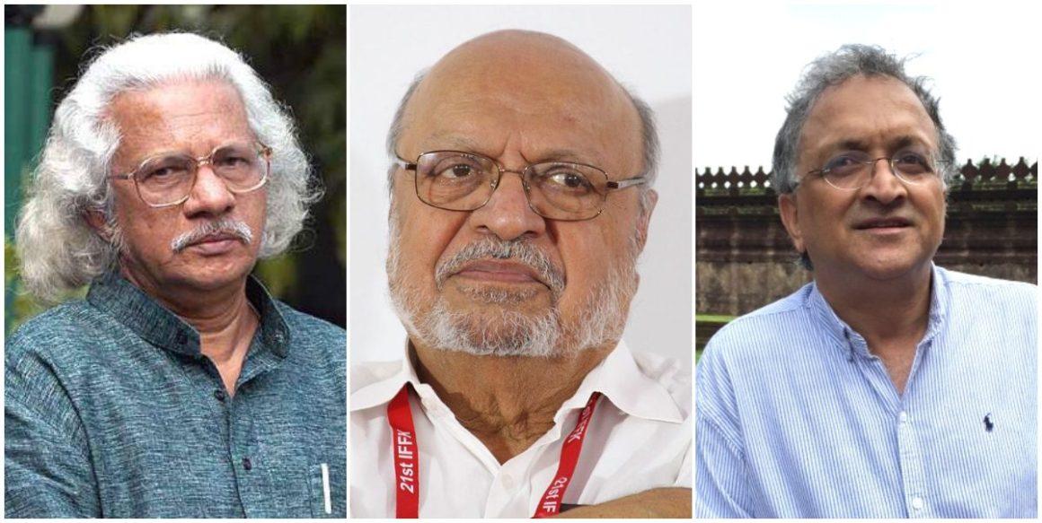 फिल्म निर्देशक अडूर गोपालकृष्णन, श्याम बेनेगल और इतिहासकार रामचंद्र गुहा. (फोटो साभार: फेसबुक/विकिपीडिया)