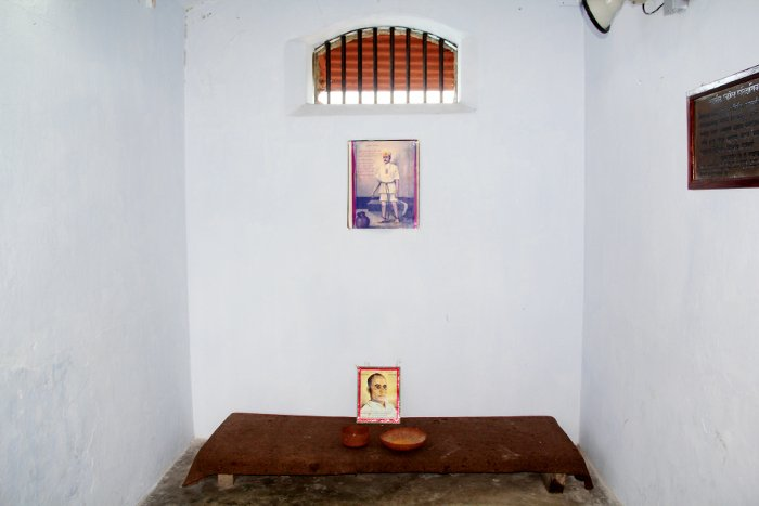सेल्युलर जेल में सावरकर की कोठरी. (फोटो साभार: सनातन संस्था)