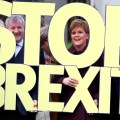 Edinburgh: Scottish National Party (SNP) leader Nicola Sturgeon, right, and lawmaker Ian Blackford, left, during the launch of the party's General Election campaign, in Edinburgh, Scotland, Friday Nov. 8, 2019.  The Scottish National Party is officially launching its campaign for Britain's upcoming Dec. 12 election, with the SNP campaigning to stop Brexit. AP/PTI(AP11_8_2019_000233B)