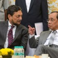 New Delhi: Outgoing Chief Justice of India Justice Ranjan Gogoi with CJI-designate Justice Sharad Arvind Bobde during his farewell function at the Supreme Court in New Delhi, Friday, Nov. 15, 2019. (PTI Photo/Vijay Verma)  (PTI11_15_2019_000169B)